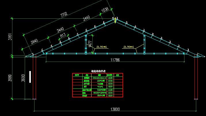 钢结构芬克式屋架课程设计